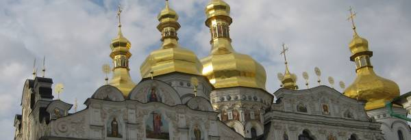 The Pechersky Lavra Monastery dating back to the 11th century, in Kiev Ukraine